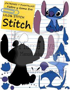 Descarga gratis nuestras plantillas para goma eva y fieltro de tus personajes de Disney favoritos: Lilo y Stitch Lilo Stitch, Stitch Disney, Disney Diy, Disney Crafts, Couture Disney, Disney Ornaments, Felt Decorations, Felt Patterns, Felt Dolls