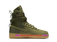 lower price with f34b7 076d4 Nike Air Force 1 Chaussures LifeStyle Baskets montantes Pas Cher Pour Homme  Brun vert 859202-