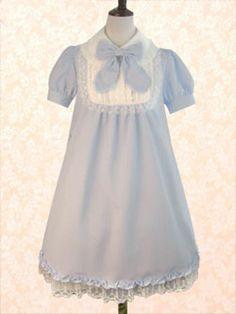 GOTHIC BLUE LOLITA DRESS~NICE SASSY GRACEFUL~POPULAR~INNOVATION MAKINGS