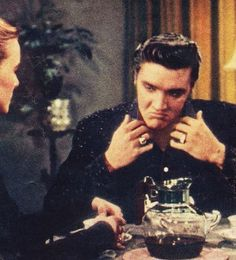"This shot is from Elvis' screen test for Hal Wallis to determine whether he wanted to sign Elvis to a movie deal. The screen test was for the movie  "" The Rainmaker "".  Burt Lancaster ended up getting the part."