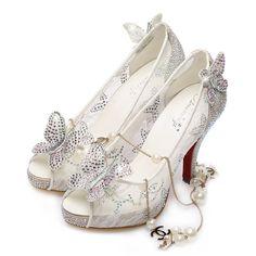 Lace Wedding Shoes Cinderella Sandals Bow Platform Heels Bridesmaid Prom  Shoes  fe2d2ba30