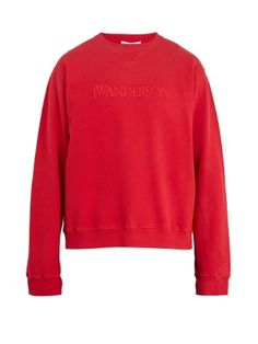 Sweat-shirt en coton à logo brodé | JW Anderson | MATCHESFASHION.COM FR