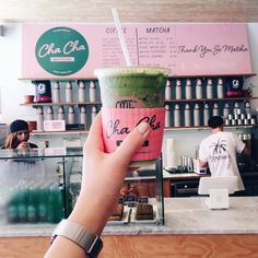 Lova matcha? Try a sip of an iced matcha latter from Cha Cha Matcha – you won't be disappointed.