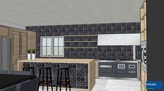Alla cucina classica con cornici e boiserie, abbiamo affiancato piani in acciaio inox ed elettrodomestici di ultima generazione.