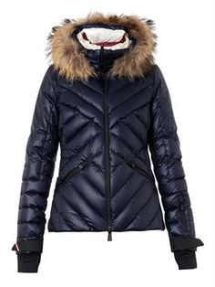 Moncler Grenoble Makalu fur-trimmed quilted down jacket Coats For Women, Jackets For Women, Ladies Coat Design, Summer Coats, Puffy Jacket, Down Parka, Outerwear Women, Jacket Style, Moncler