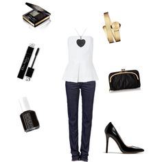 A fashion look from March 2015 featuring cotton blouse, white slim fit jeans and coach pumps. Browse and shop related looks. Going Out, Shoe Bag, Polyvore, Stuff To Buy, Shopping, Shoes, Collection, Design, Women