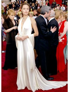 The Best Oscar Dresses of All Time: Angelina Jolie, 2004, Marc Bouwer