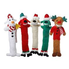 18 Christmas Loofa Plush with Squeaker Holiday By Multipet One Toy  Styles Vary ** Click on the image for additional details. (Note:Amazon affiliate link) #DogToys