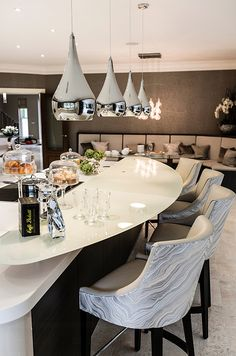 just the counter rising for a overhang  Luxurious interior design ideas perfect for your projects. #interiors #design #homedecor www.covetlounge.net