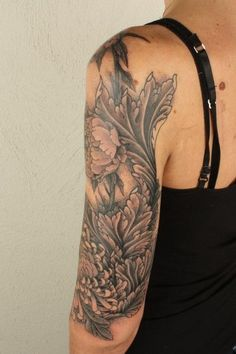 Thomas Hooper Acanthus Flower Sleeve Tattoo
