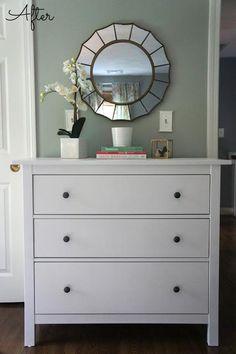 Ikea Hemnes Dresser (Guest Bedroom Update) -For Guest Room (This size or bigger 6 drawer size)