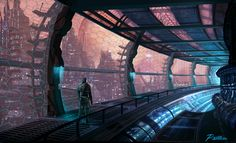 Space Station, Mike Paolilli on ArtStation at https://www.artstation.com/artwork/39W0B