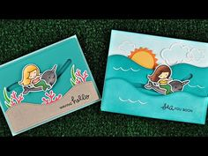 Intro to Slide on Over: make interactive slider cards ~ Kelly Marie Alvarez, Lawn Fawn Spinner Card, Lawn Fawn Blog, Origami, Slider Cards, Lawn Fawn Stamps, Wink Of Stella, Interactive Cards, Scrapbooking, Get Well Cards