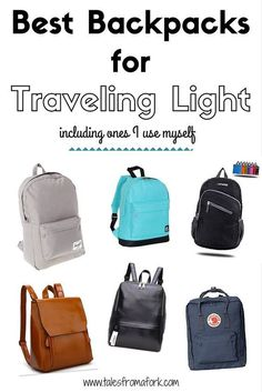 Click through to find out the best backpacks for traveling light!