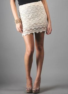 Wrap Skirts, High Waisted Skirts, Mini Skirts & More Fall/Winter Skirts Lace Mini Skirts, Winter Skirt, Nice Legs, Tight Dresses, Crochet Clothes, Sexy Legs, Crochet Lace, Lace Shorts, Sewing Ideas