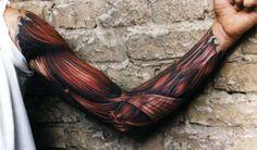 :O Muscle tattoo sleeve!