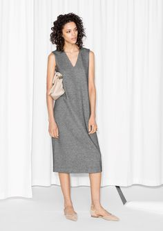 & Other Stories | Melange V-Neck Dress