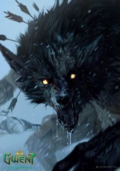 The amazing digital art of Lorenzo Mastroianni for CD Projekt Red Artbook: The Art of the Witcher: Gwent Gallery Collection The Witcher, Witcher Art, Fantasy Creatures, Mythical Creatures, Fantasy Kunst, Fantasy Art, Werewolf Art, Vampire, Monster Art
