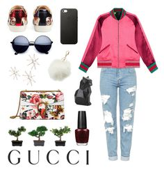Presenting the Gucci Garden Exclusive Collection: Contest Entry by luciabasoco on Polyvore featuring polyvore, fashion, style, Topshop, Gucci, Charlotte Russe, Nearly Natural, PyroPet, Uttermost, clothing and gucci