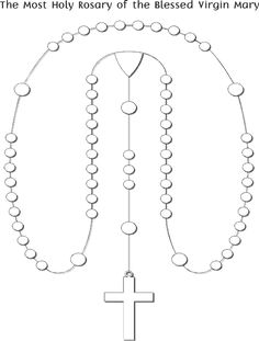 Printable Coloring Page for Kids - Rosary