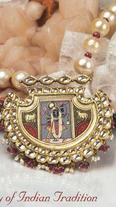Royal Jadau indian Temple jewellery.