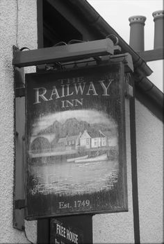 the railway inn pub sign