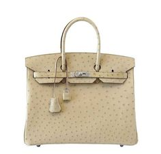 71908315eb Hermes Birkin 35 Ostrich Parchemin Bag Luxury Handbags, Top Designer  Handbags, Hermes Handbags,
