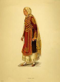 Φορεσιά Σαλαμίνας, Costume from Naousa. Greek Traditional Dress, African Traditional Dresses, Traditional Outfits, Ethnic Fashion, Punk Fashion, Lolita Fashion, Fasion, Emo Dresses, Party Dresses