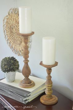 http://www.andersonandgrant.com/2015/05/easy-diy-rustic-wood-candlesticks.html?utm_source=Anderson & Grant Blog Post