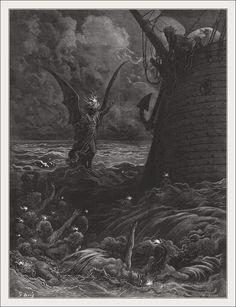 Книга: The Rime of the ancient mariner. Иллюстратор: Gustave Doré.