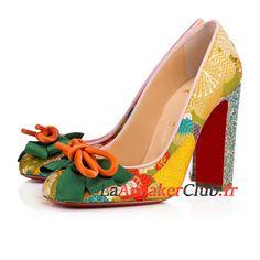 414c6375221c72 Christian Louboutin Dolly Dola Chaussures Officiel Prix Pas Cher Pour Femme/Enfant  Or Vert 3170809Y083