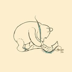 LOVE the original classic Winnie The Pooh drawings, so I decided to ...