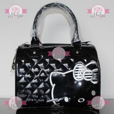 Bolsa Tipo Baúl Loungefly Negra Hello Kitty