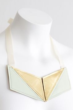 """""""Geometry"""" Hanna Sarén AW13 / leather necklace"""