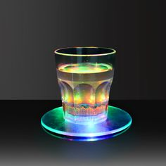 Transparent LED Coaster &Flashing Led Coaster| GF Brand