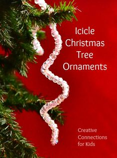 Icicle Christmas Tree Ornaments, these are crazy easy and pretty too! | | from Creative Connections for Kid