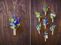 wildflower wedding flower boutonnieres twine wrapped waldorf astoria park city wedding flowers utah calie rose
