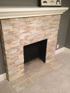 I like the stone for the whole wall of the fireplace with a modern insert