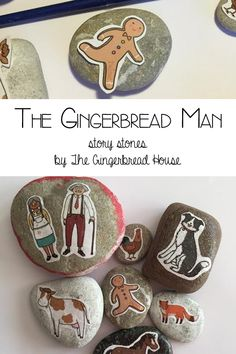 Help young children to develop storytelling language and work on comprehension by making a DIY set of The Gingerbread Man Story Stones.