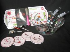 'Girls Night In' Dinner & Wine Lolita Salad Ware Bowl Tray Coasters Bottle Corks