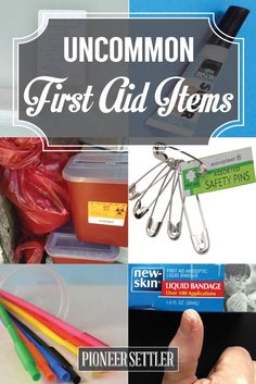 10 Uncommon First Aid Items To Have On Hand For An Emergency | As a homesteader we also need to be prepared all the time, check out these useful items you can use for an emergency, survival tips & tricks you need to know now! by Pioneer Settler at http://pioneersettler.com/uncommon-first-aid-items/