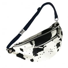 Maxi Riñonera Print Vaca Fanny Pack, Madrid, Make Up, Fashion, Handmade Handbags, Cow, Black And White, Fur, Hip Bag