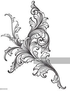ベクトルアート : Ornamental Scroll Growth