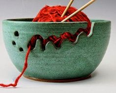 """Cute heart things: Accessories for knitting: """"Ceramic holders coil"""""""