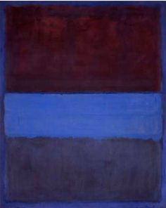 By Mark Rothko, 1953, No. 61 (Rust and Blue) [Brown Blue, Brown on Blue], oil  on canvas, MOCA, LA.