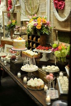 beautiful vintage inspired dessert table by frankie
