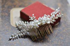 Hair Jewels, Pearl Headband, Bridal Hair Accessories, Bridal Headpieces, Hair Comb, Hair Band, Fascinator, Diamond Earrings, Pearl Bridal