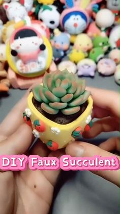 Cute Polymer Clay, Cute Clay, Polymer Clay Miniatures, Polymer Clay Flowers, Fimo Clay, Polymer Clay Projects, Clay Crafts For Kids, Diy Arts And Crafts, Fimo Kawaii