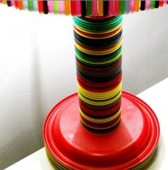 DIY Lamps Made Of Plastic Tableware | Shelterness