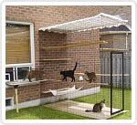 Outdoor cat space this is really cool but I could never own a cat.